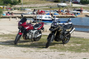 Unsere Moped´s auf der Insel Pag in Kroatien